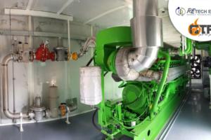 BHKW-Pumpen-Raum-Motoren